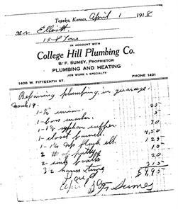 Receipt from 1918